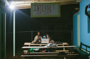 An Internet Hot Spot was built for the children to use the wifi and do their homework. Photo credit: Kayla Johnson